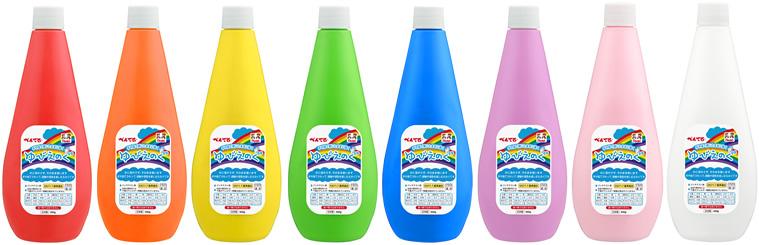 こどもたちの大好きな虹色を集めたカラフルな配色、全8色